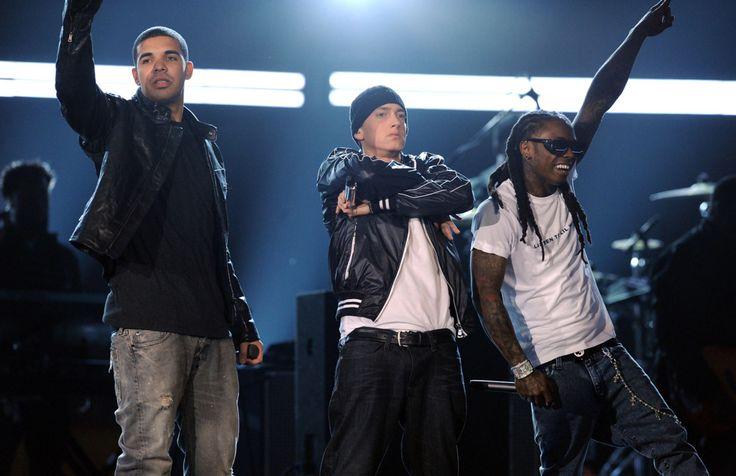 Grammy Power Trio Image - Eminem's Life in Photos | Rolling Stone