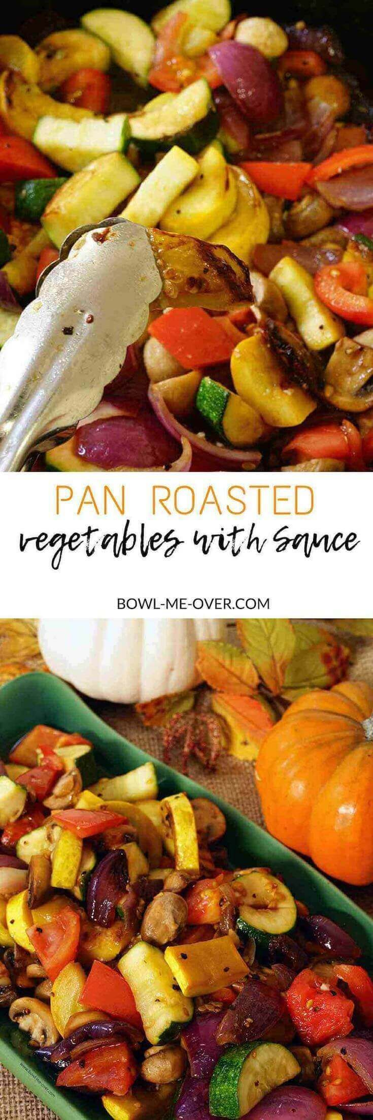 Need a delicious side dish NOT cooked in the oven? Pan Roasted Vegetables are lightly sautéed in butter and olive oil until caramelized and sweet. Adding tomatoes at the end makes a delicate light sauce!