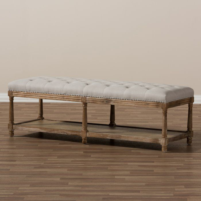 Bem French Country Upholstered Storage Bench Upholstered Storage