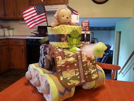 Hey, I found this really awesome Etsy listing at https://www.etsy.com/listing/239078809/military-tank-diaper-cake