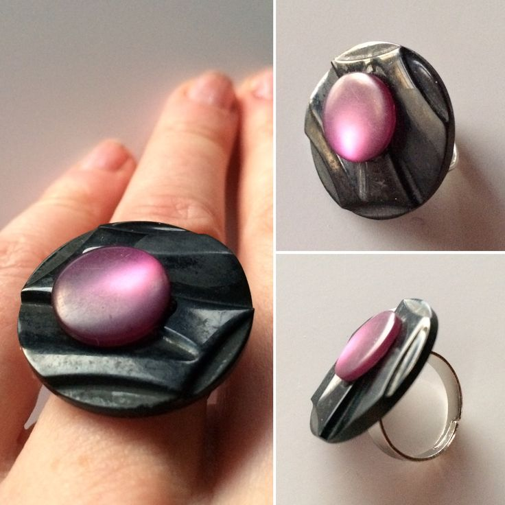 A ring made of two old buttons.