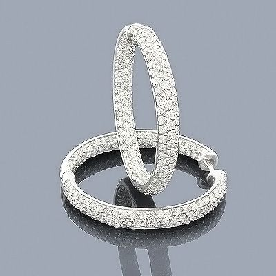 Inside Out Diamond Hoop Earrings These Match My Ring Love The Pave Sparkle