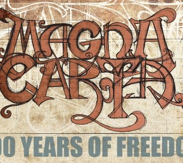 Poster art and illustration for Magna Carta event