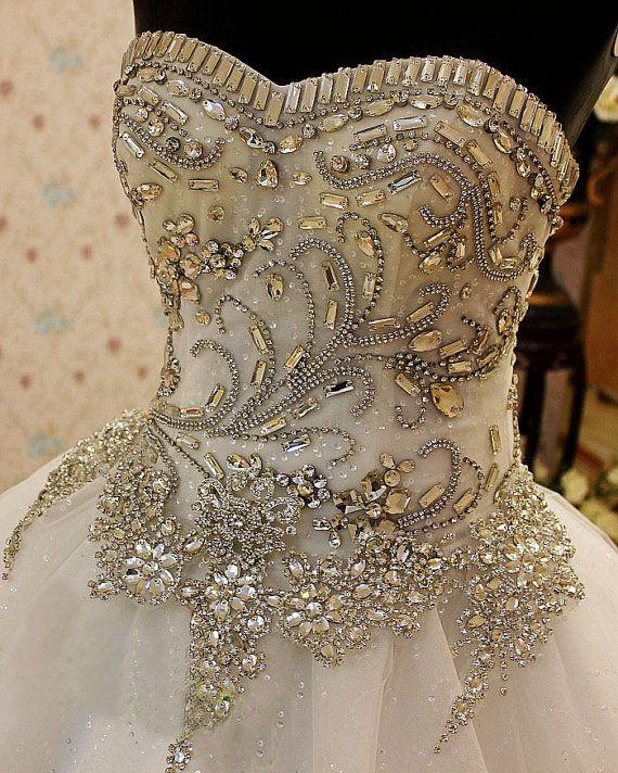 Crystal Wedding Dress Princes Wedding DressCorset by LUXandGLAMOR