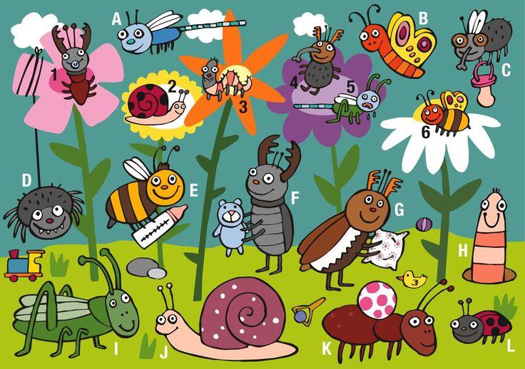 Praatplaat insecten  www.kopgroepbibliotheken.nl