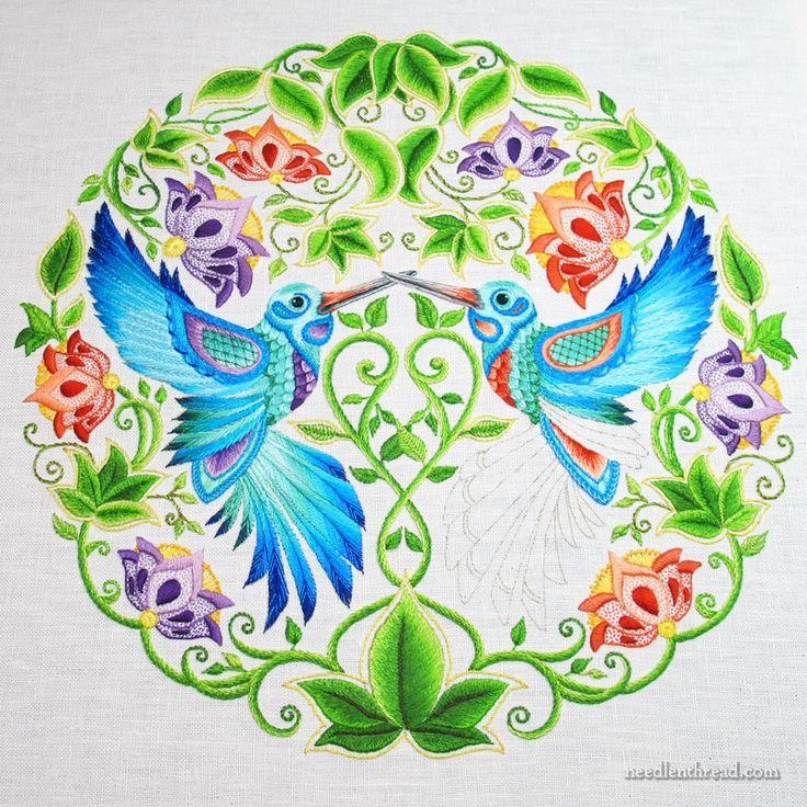 Mary Corbet's interpretation of a page from Johanna Basford's Secret Garden book,  Stunning!
