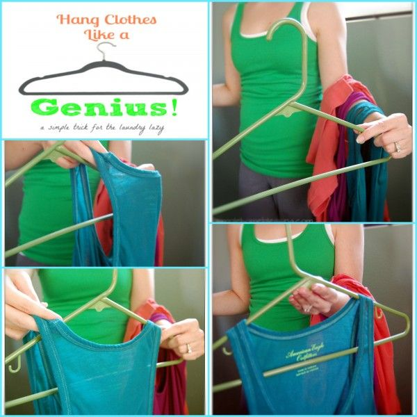 A simple tip for how to hang clothes and make putting away laundry a breeze - Ask Anna