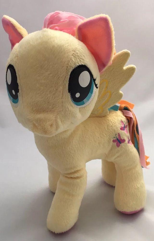 Hasbro My Little Pony Plush Fluttershy 2014 Yellow Stuffed Horse Butterfly  | eBay