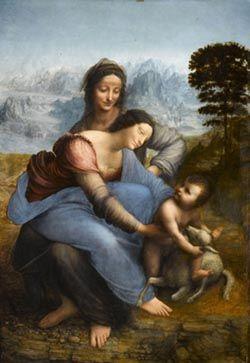 Exposition La Sainte Anne, l'ultime chef-d'œuvre de Léonard de Vinci, au Louvre