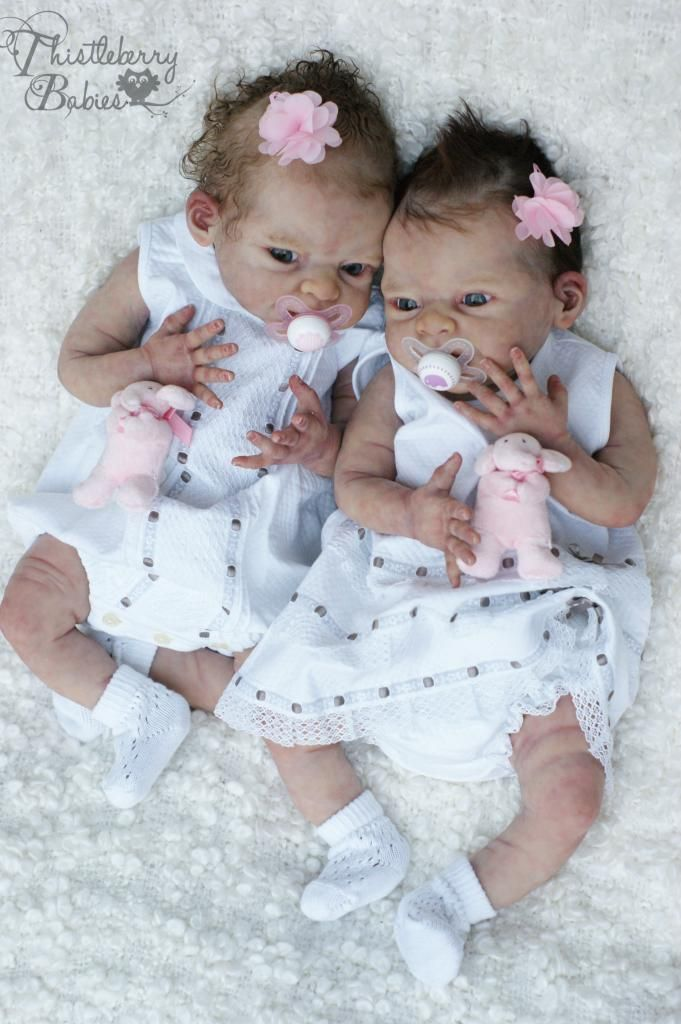 ♥ Thistleberry Babies Full Body Solid Silicone Baby Girl Beautifully Reborn ♥