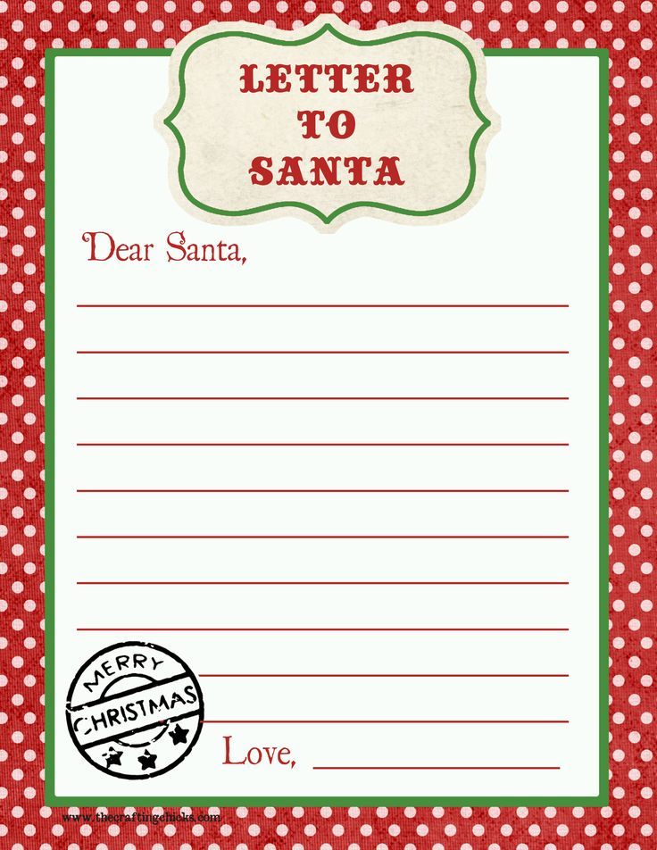 The 25 best Santa letter printable ideas on Pinterest