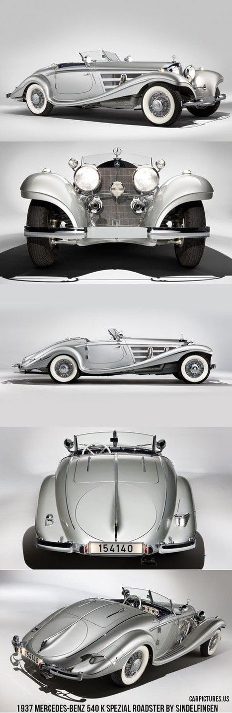 1937 Mercedes-Benz 540 K Spezial Roadster by Sindelfingen. #mybsisboss
