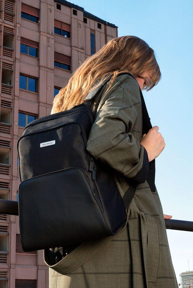 Moleskine Nomad Backpack Medium Black Backpacks