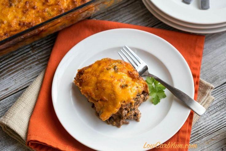Low carb bacon cheeseburger casserole - keto