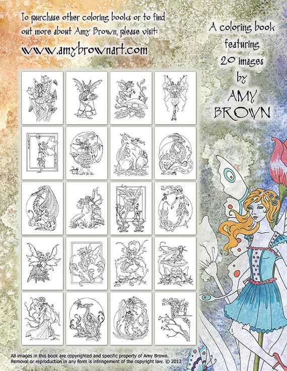 108 best Artist Amy Brown Coloring images on Pinterest  Coloring