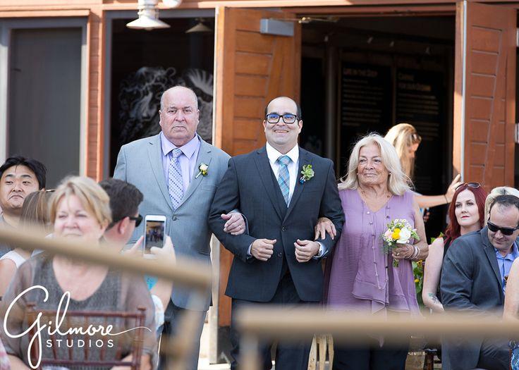 The Groom & His Parents   guests at the ceremony, purple, gray, black suit, wedding ceremony, future Mr. & Mrs., happy, smiles, Dana Point, Orange County, California, wedding photographer   Gilmore Studios   gilmorestudios.com