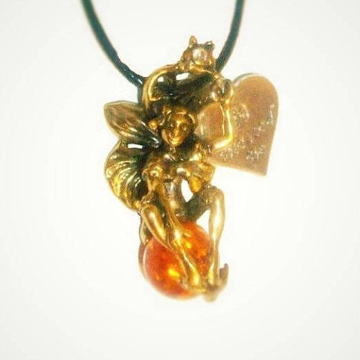Excited to share the latest addition to my #etsy shop: Fairy jewelry Amber jewelry Fairy pendant necklace Heart necklace Amber pendant Sexy jewelry Romantic Mother day gift for women girl sister https://etsy.me/2Fbvz2m #ukraenie #oerele #zolotoj #brass #unisexadults #a