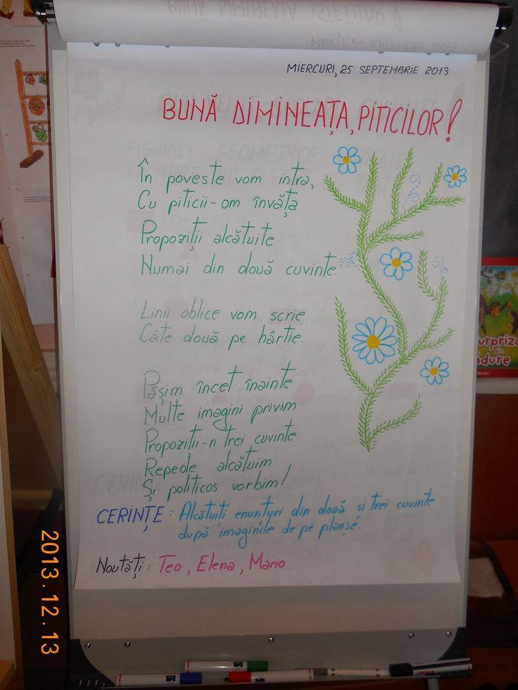 Bine ati venit pe blogul clasei pregatitoare B, STEP BY STEP: Mesajul zilei