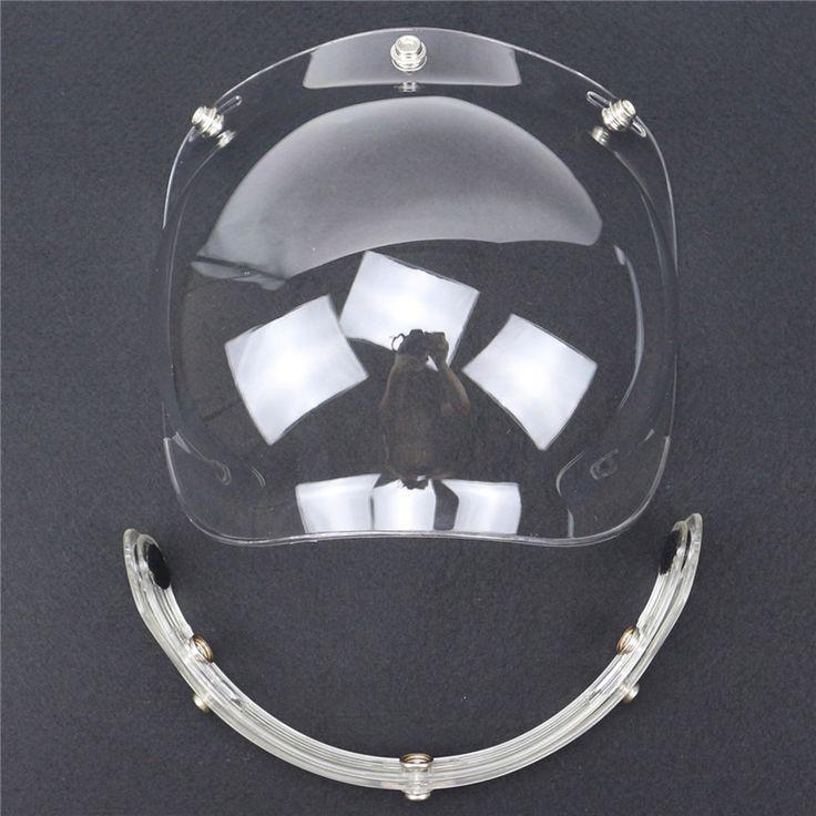 Top qualité BRICOLAGE casque Bulle Visière UV 400 protection Casque pare-brise 3 broches boucle réglable flip up casque en verre 9 couleurs