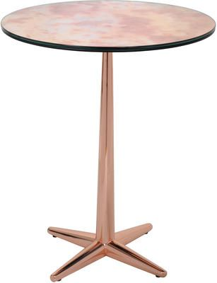 City Side Table Black Glass And Gold by Heal's £632 - a perfect place for some beautiful roses.