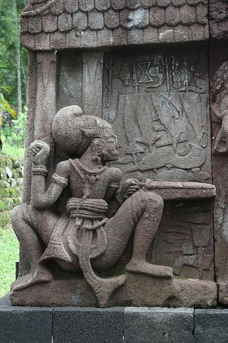 A Stone Carving at Candi Sukuh, Java, Indonesia