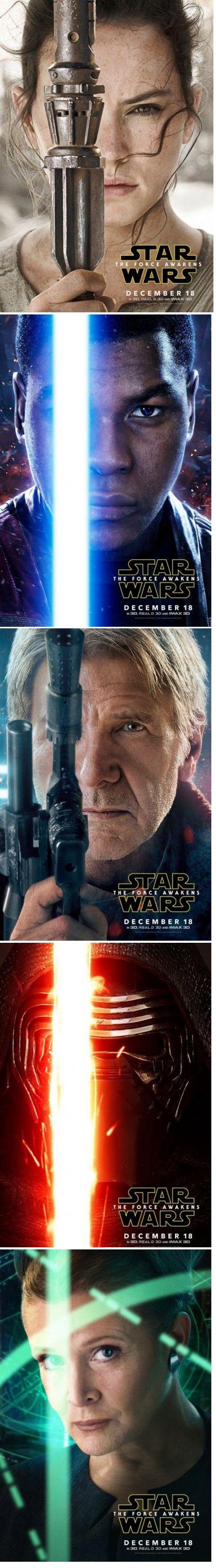 Star Wars: Episode VII – The Force Awakens (2015) [character posters] #starwars #theforceawakens