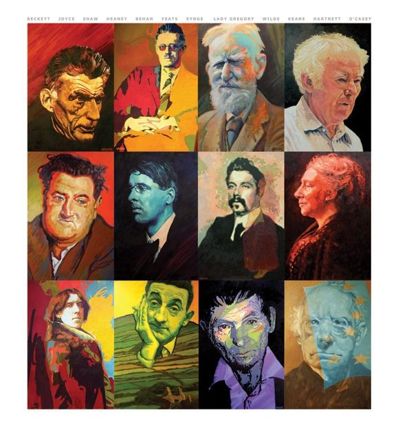 Twelve Irish Writers by Barrie Maguire on ArtClick.ie