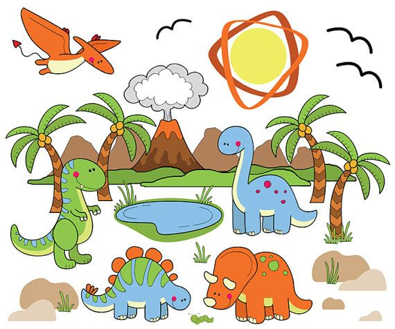 Dinosaur wall mural scene for baby boy prehistoric nursery for Dinosaur pictures for kids room