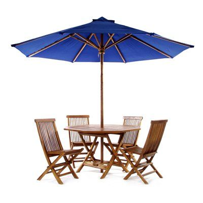 Outdoor Folding Table Set With Umbrella #decor #patio #pool #summer