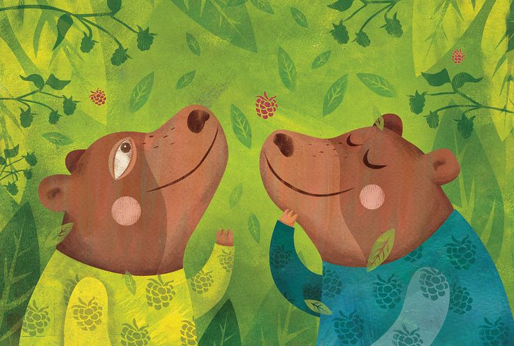 Who ate the raspberries? / picture book on Behance by Krisztina Maros