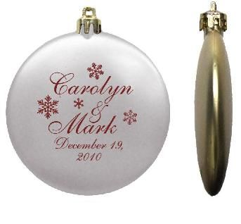 113 best Ornament Wedding Favors images on Pinterest Christmas