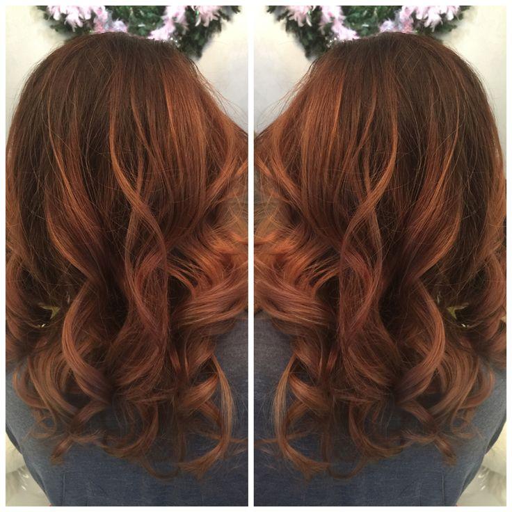 Auburn balayage #hairbyrobyncorn
