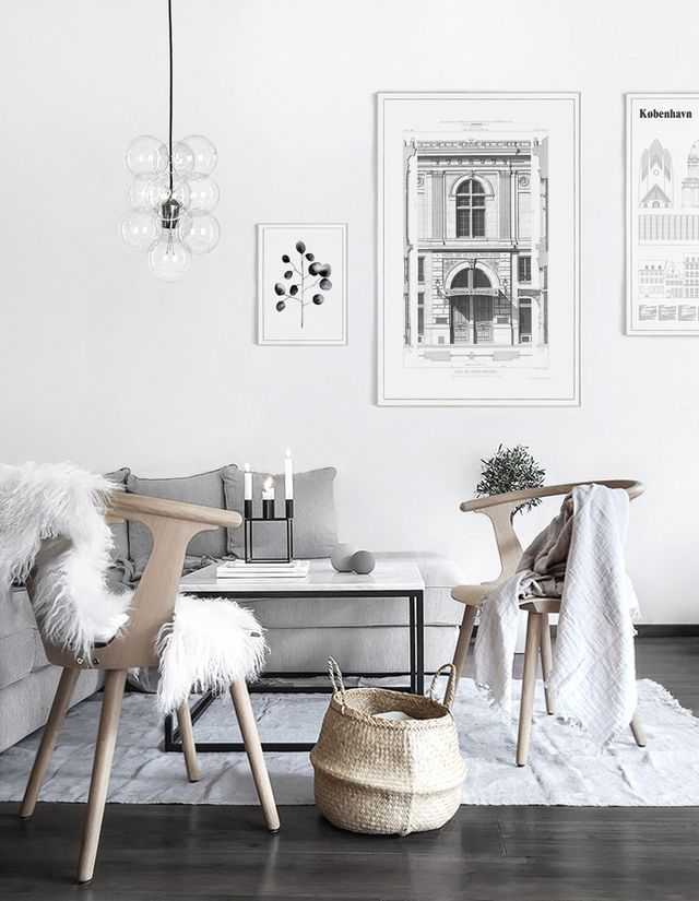 Winter Living Room Makeover