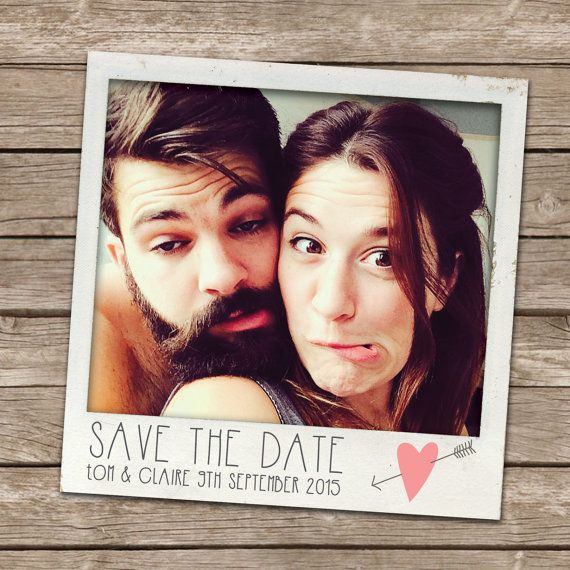A lovely, fun and informal way to announce that you have set a date, these Custom Polaroid Save the Dates are a lovely keepsake for friends