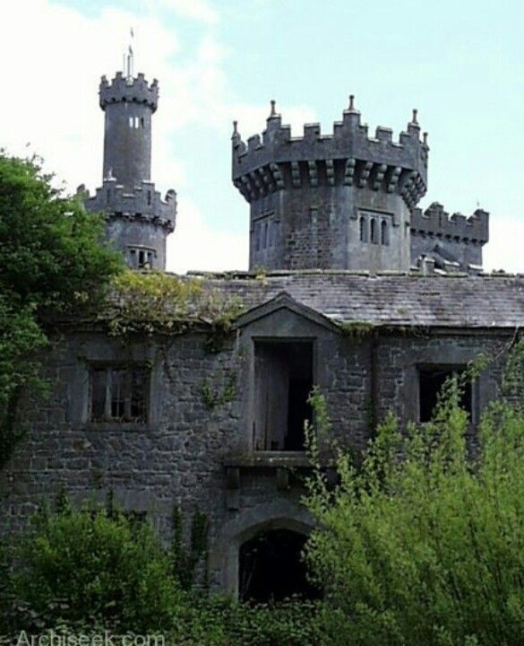 Stables of the Charleville Forest Castle, near Tullamore in Offaly county, Ireland. It was built in 1798 by Charles William Bury, Earl of Charleville.