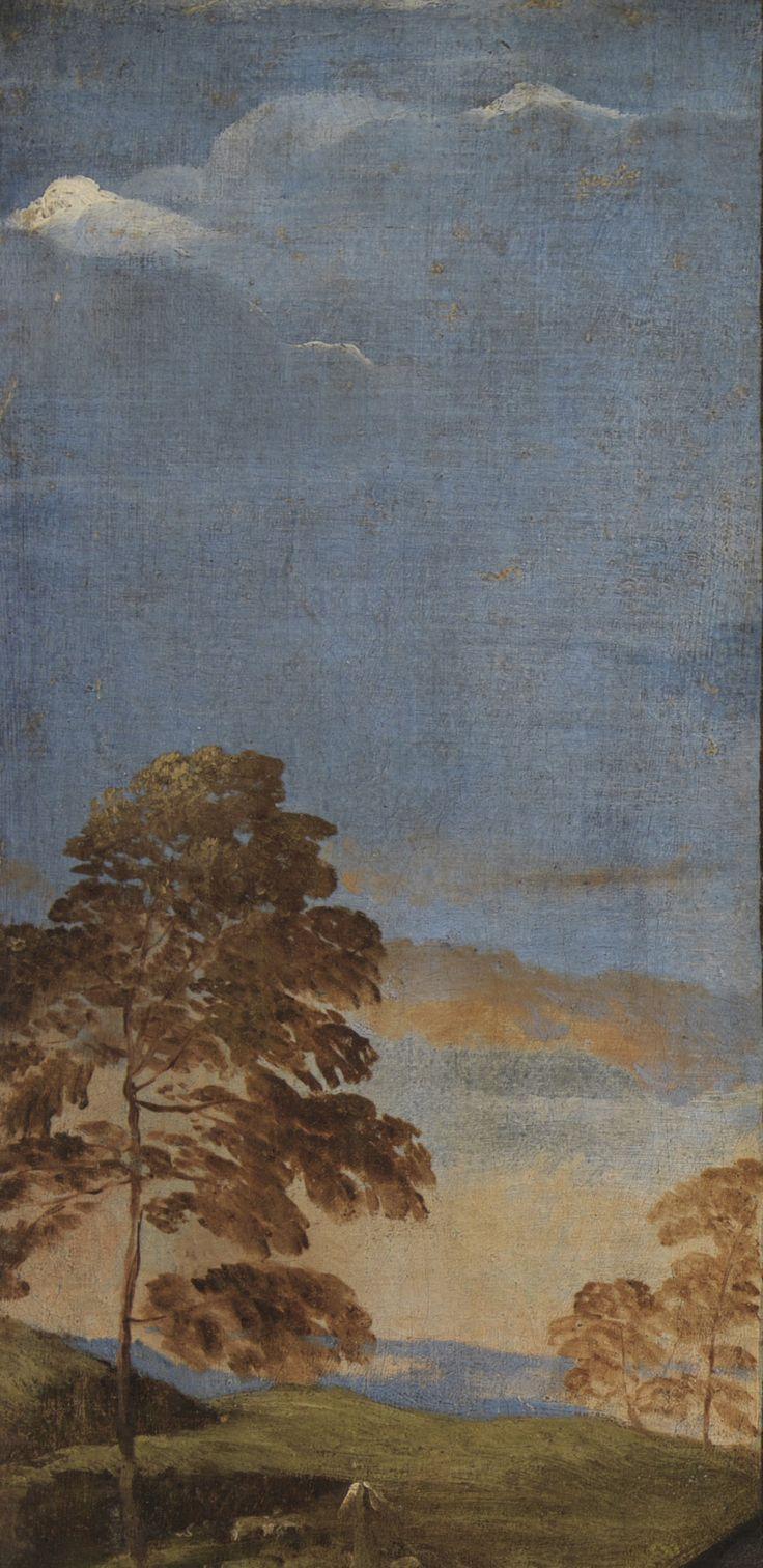 Titian - Portrait of the Venetian Painter Giovanni Bellini. Detail. 1511 - 1512