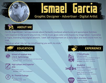 """Check out new work on my @Behance portfolio: """"My resume 2017"""" http://be.net/gallery/55132519/My-resume-2017"""