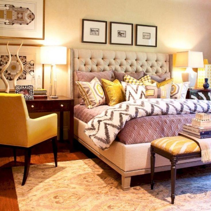 45 cozy grey yellow bedrooms decorating ideas  bedroom