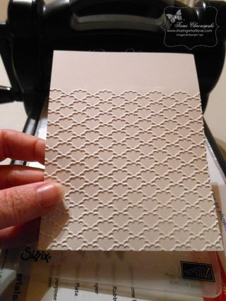 Brilliant Tutorial to get a full sheet of embossed paper when the folder is too short to catch all of the paper!: