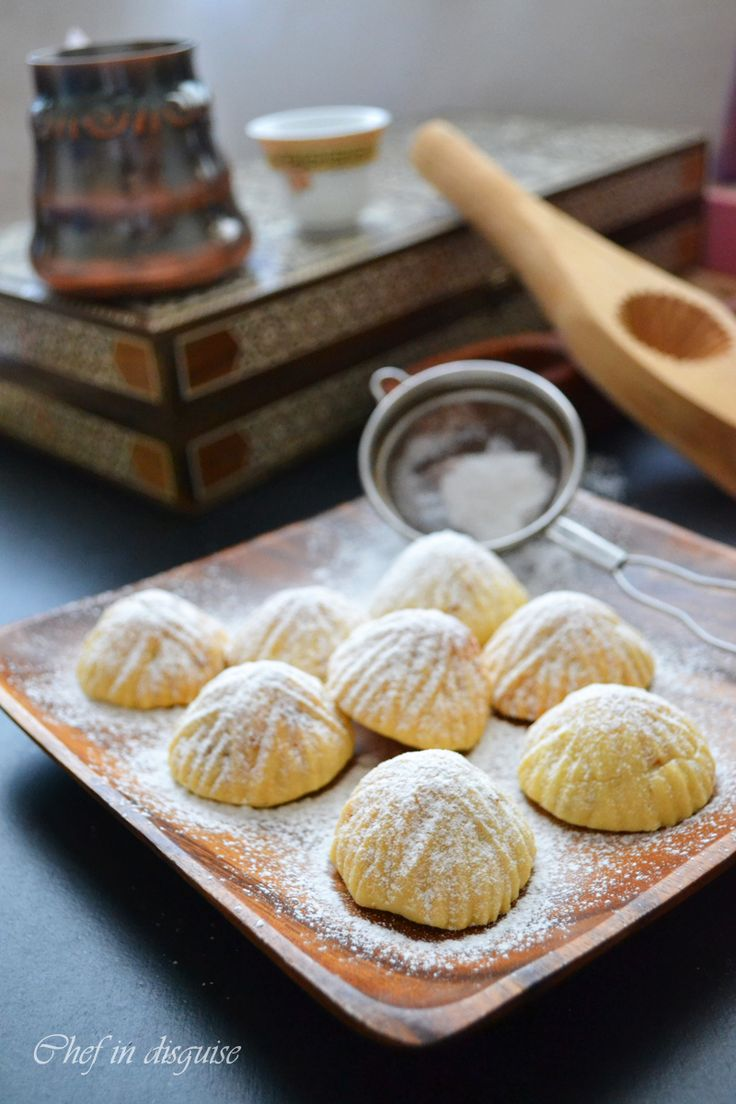 Semolina Ma'amoul : stuffed cookies with dates and nuts Wooden maamoul mould.It is used especially for traditional cookie.It %100 organic and handmade(4 pieces,4 Style) http://etsy.me/1jvh6zR