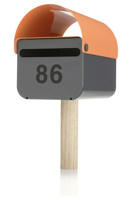 Miscellaneous Fence Mounted Mailbox: Interesting Contemporary Mailboxes The Australian TomTom Mailbox Was Inspired By The Desire Of Homeowners To Individualize Their Suburban Properties ~ lcevans.com Exterior Designs Inspiration