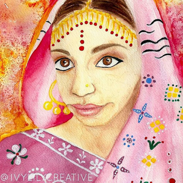 Indian girl in watercolor and acrylics. Coloring page of her available in my Etsy shop Ivy Lily Art. It's an instant download printable coloring page. Also part of a printable coloring book with more ethnic girl coloring pages. Link in bio!  I mentioned about #Vidme in yesterday's post and I actually got verified already!  So while it's recommended to have 50 followers on Vidme before applying for verification it's not a must. I only had 13 followers when I got verified (but I had also…