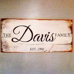Family Established Sign (25% off)