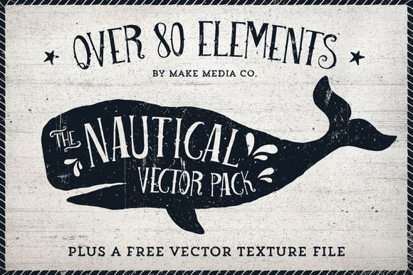 Check out The Nautical Vector Pack by MakeMediaCo. on Creative Market