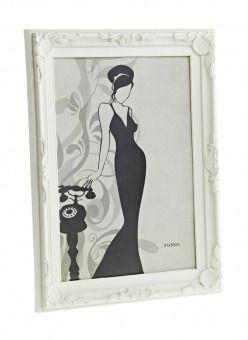 Bilderrahmen Barock, creme, 20 x 30 cm - Dieser Bilderrahmen mit dekorativem Rahmen im Barock-Stil kann quer oder hochkant aufgehängt werden. Material: Kunststoff