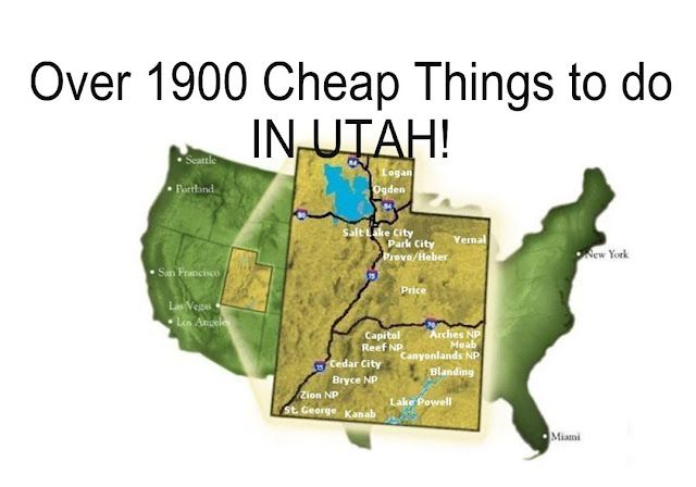See this Post before planning your kids summer vacation! Over 1,900 cheap and fun things to do in Utah.