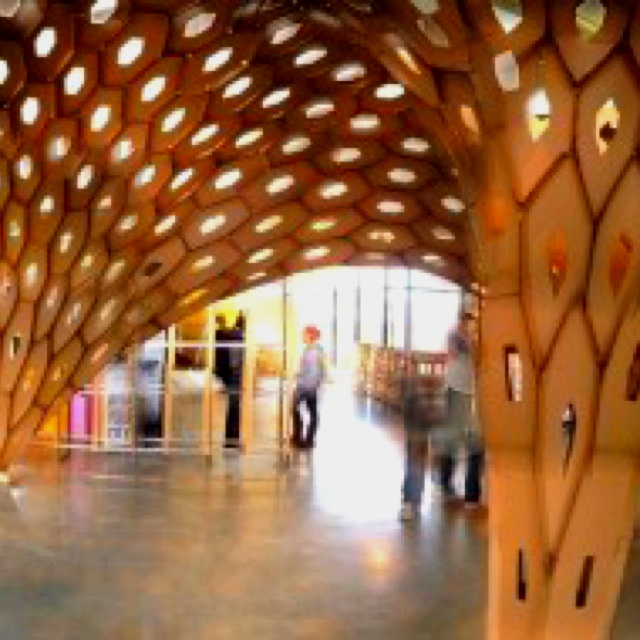 Cardboard architecture hex-shell installation http://www.evolo.us/architecture/catalyst-hexshell-matsys/