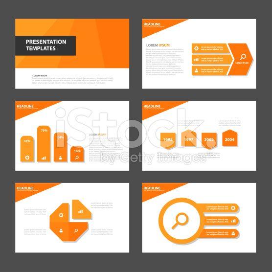 Orange Multipurpose presentation Templates infographic flat design ...