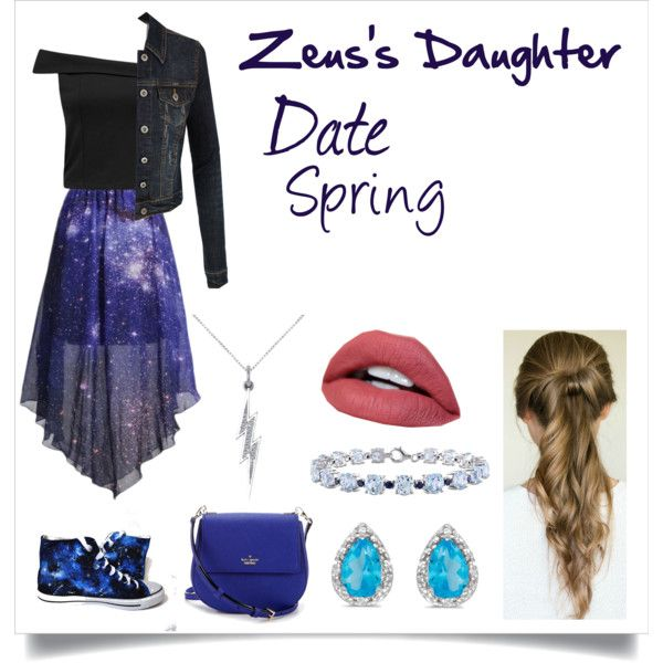 Zeus's Daughter Spring #7 by h-zita on Polyvore featuring LE3NO, WithChic, Kate Spade, Amanda Rose Collection, Miadora, Allurez, DateNight, percyjackson, pjo and Demigod