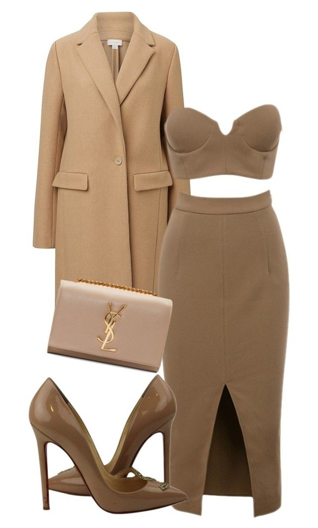 """""""Untitled #13114"""" by danisalalkamis ❤ liked on Polyvore featuring Witchery, Christian Louboutin and Yves Saint Laurent"""
